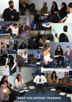 Volunteer training photo montage.